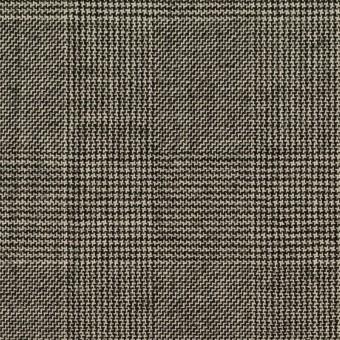 ウール×チェック(エクリュ&チャコール)×かわり織 サムネイル1
