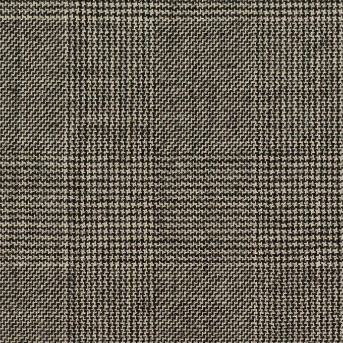 ウール×チェック(エクリュ&チャコール)×かわり織 イメージ1