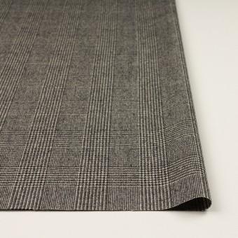 ウール&ポリウレタンチェック(エクリュ&チャコール)×かわり織ストレッチ サムネイル3