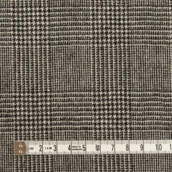 ウール&ポリウレタンチェック(エクリュ&チャコール)×かわり織ストレッチ サムネイル4