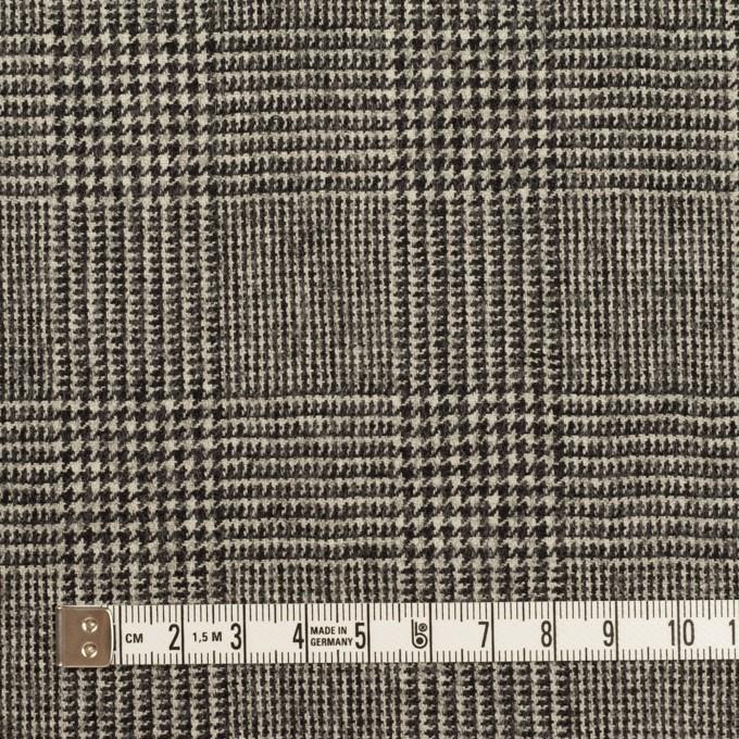 ウール&ポリウレタンチェック(エクリュ&チャコール)×かわり織ストレッチ イメージ4