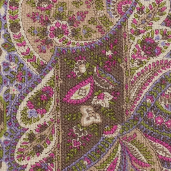 ポリエステル&ウール×ペイズリー(モーブ&アッシュブラウン)×ビエラ_全2色 イメージ1
