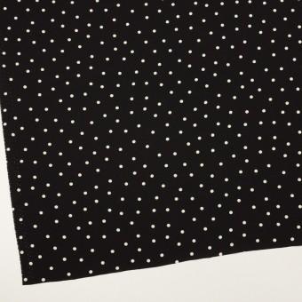 ポリエステル×水玉(ブラック)×ジョーゼット サムネイル2