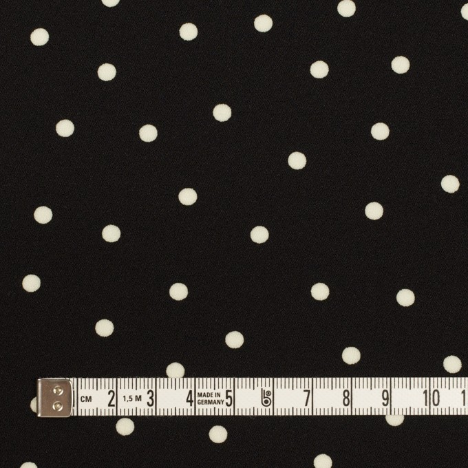 ポリエステル×水玉(ブラック)×ジョーゼット イメージ4