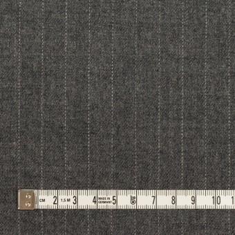 ウール×ストライプ(グレー)×サージ サムネイル4