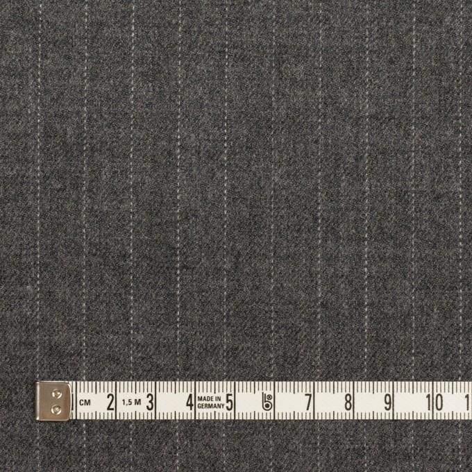 ウール×ストライプ(グレー)×サージ イメージ4