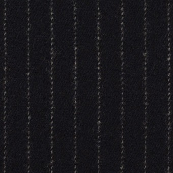 ウール×ストライプ(ダークネイビー)×サージ サムネイル1