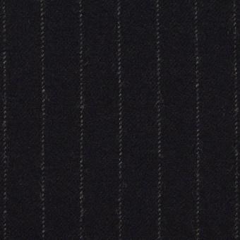 ウール&ポリウレタン×ストライプ(ダークネイビー)×サージストレッチ サムネイル1