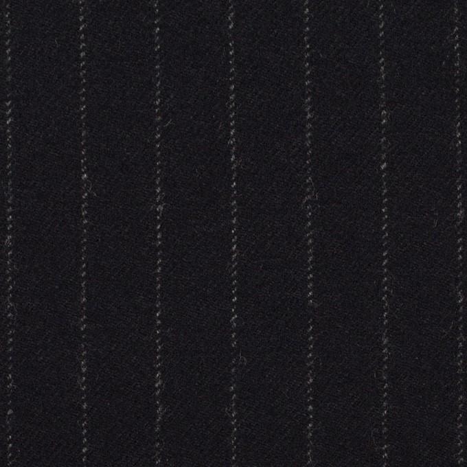 ウール&ポリウレタン×ストライプ(ダークネイビー)×サージストレッチ イメージ1