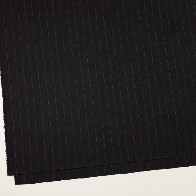 ウール&ポリウレタン×ストライプ(ブラック)×サージストレッチ イメージ2