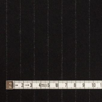 ウール&ポリウレタン×ストライプ(ブラック)×サージストレッチ サムネイル4