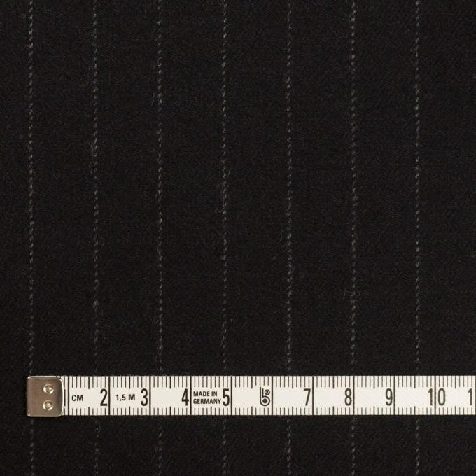 ウール&ポリウレタン×ストライプ(ブラック)×サージストレッチ イメージ4
