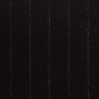 ウール&ポリウレタン×ストライプ(ブラック)×サージストレッチ サムネイル1