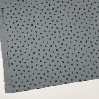 ポリエステル×フラワー(ブルーグレー&バルビゾンブルー)×デシン_全2色 サムネイル2