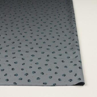 ポリエステル×フラワー(ブルーグレー&バルビゾンブルー)×デシン_全2色 サムネイル3