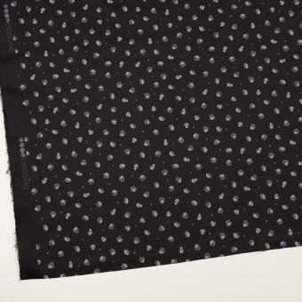 ポリエステル×フラワー(ブラック&モーブ)×デシン_全2色 サムネイル2