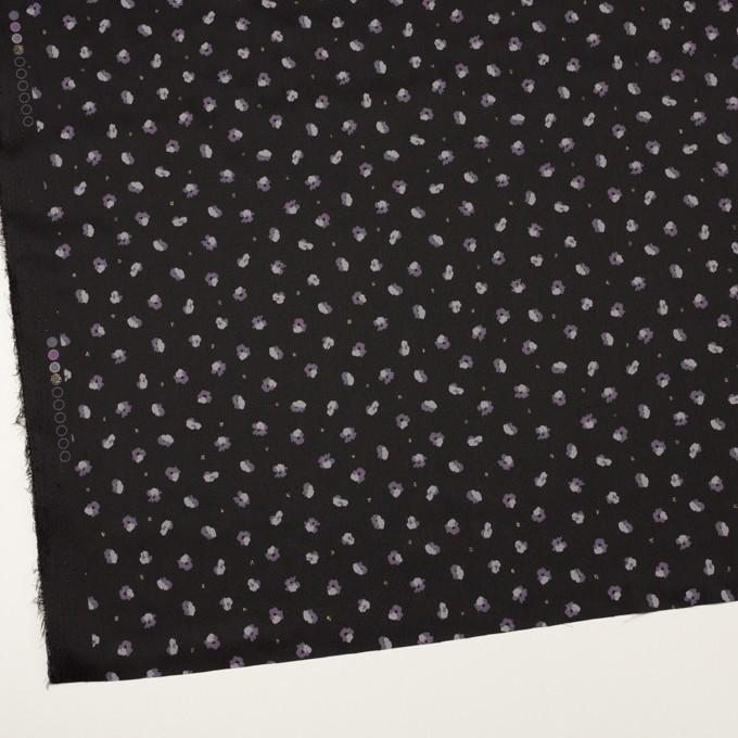 ポリエステル×フラワー(ブラック&モーブ)×デシン_全2色 イメージ2