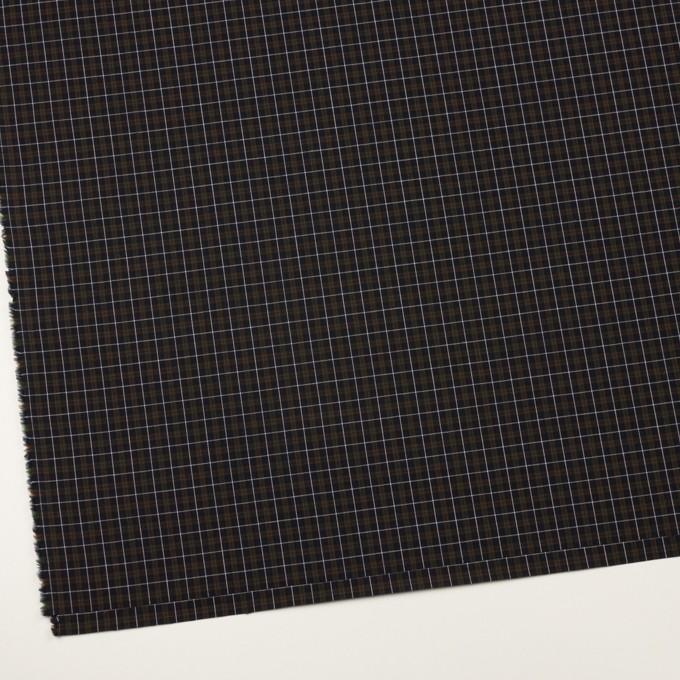 コットン×チェック(ダークネイビー、グリーン&レッド)×ブロード イメージ2