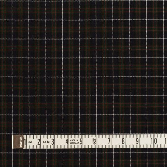コットン×チェック(ダークネイビー、グリーン&レッド)×ブロード イメージ4