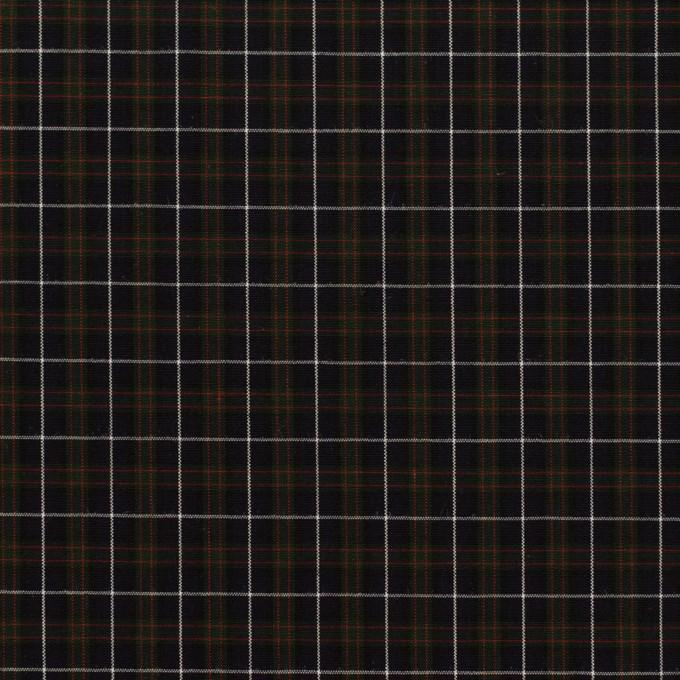コットン×チェック(ダークネイビー、グリーン&レッド)×ブロード イメージ1
