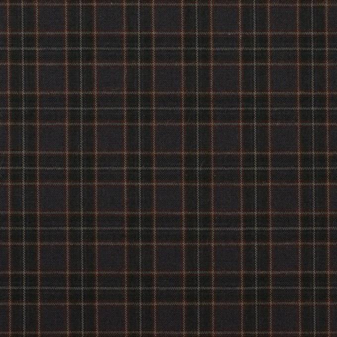 コットン×チェック(アッシュブラウン)×高密ブロード イメージ1