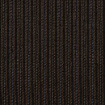 コットン&ウール×ストライプ(ブラウン&ダークネイビー)×ビエラ