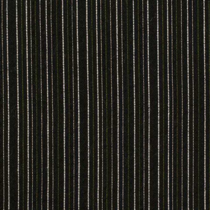 コットン×ストライプ(チャコールブラック&モスグリーン)×サッカー イメージ1