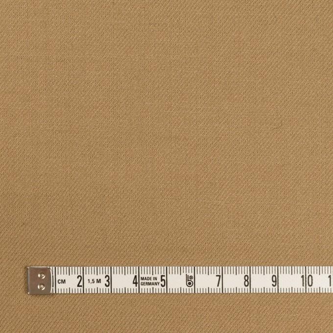 ウール&ポリウレタン×無地(カーキベージュ)×サージストレッチ イメージ4