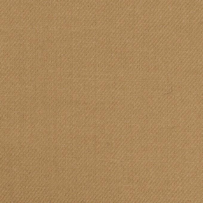 ウール&ポリウレタン×無地(カーキベージュ)×サージストレッチ イメージ1