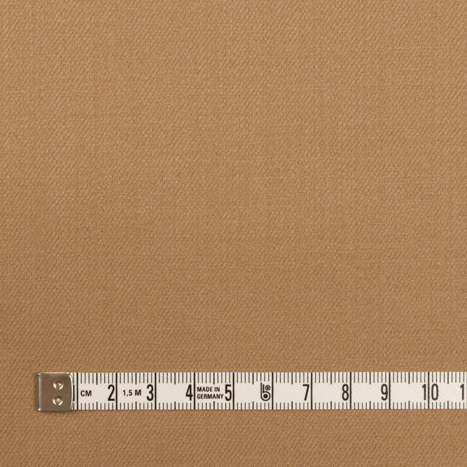 ウール&ポリウレタン×無地(チャイ)×サージストレッチ イメージ4