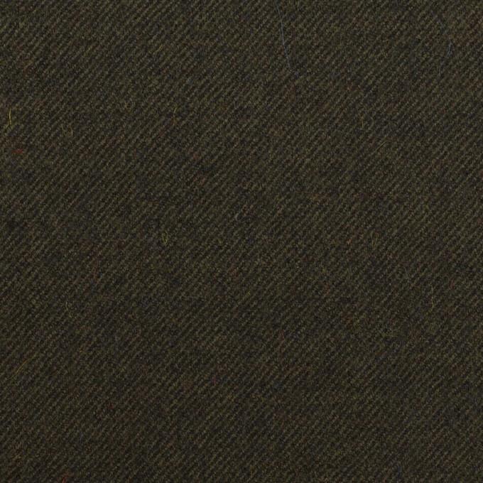 ウール×無地(ダークカーキ)×サージ イメージ1