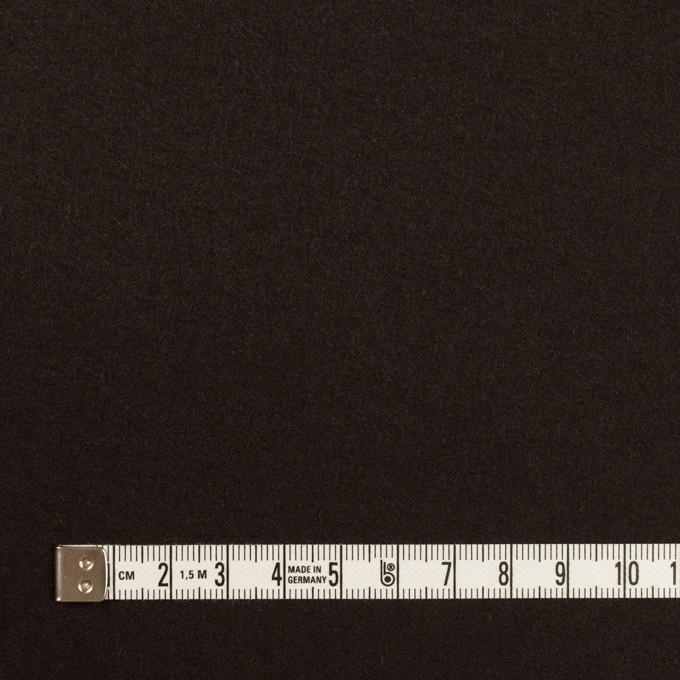 ウール×無地(ダークブラウン)×フラノ(フランネル) イメージ4
