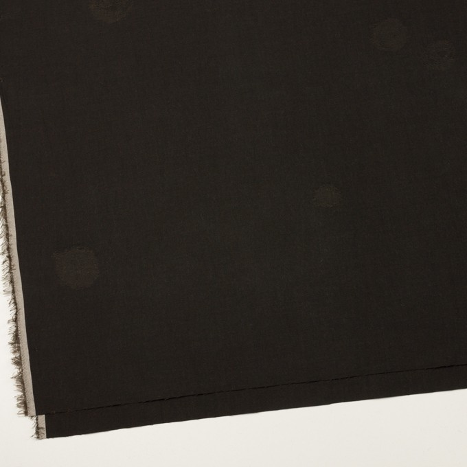 コットン&ポリエステル×幾何学模様(ダークブラウン)×ポプリンジャガード_全2色 イメージ2