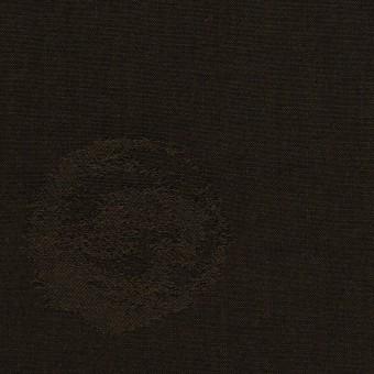 コットン&ポリエステル×幾何学模様(ダークブラウン)×ポプリンジャガード_全2色