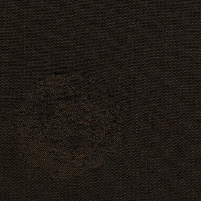 コットン&ポリエステル×幾何学模様(ダークブラウン)×ポプリンジャガード_全2色 イメージ1