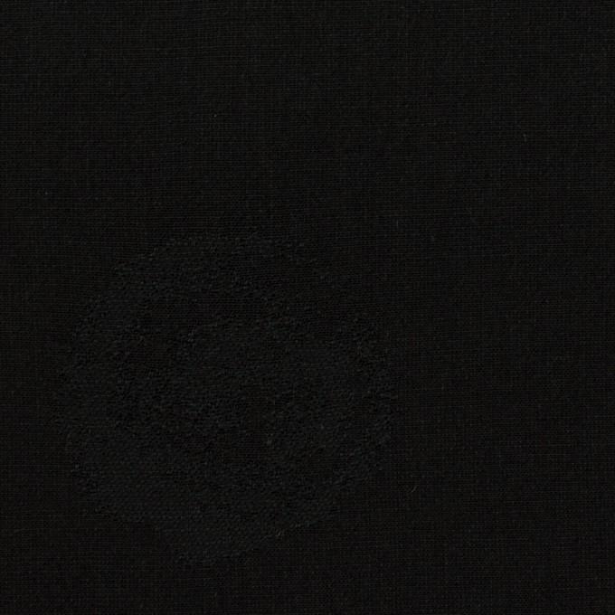 コットン&ポリエステル×幾何学模様(ブラック)×ポプリンジャガード_全2色 イメージ1