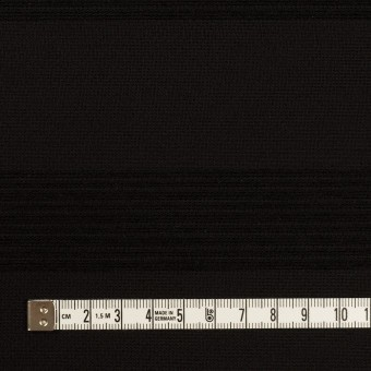 ウール&コットン混×ボーダー(ブラック&チャコールブラック)×ジャガード_全2色 サムネイル4