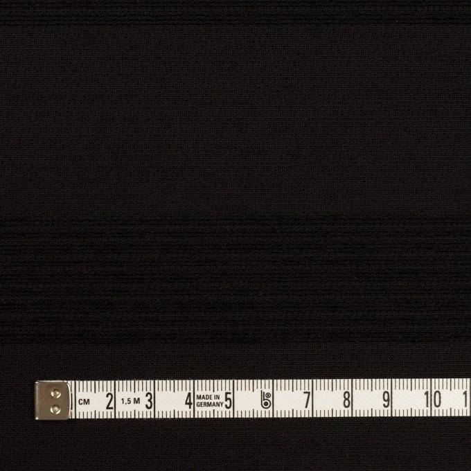 ウール&コットン混×ボーダー(ブラック&チャコールブラック)×ジャガード_全2色 イメージ4
