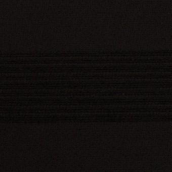 ウール&コットン混×ボーダー(ブラック&チャコールブラック)×ジャガード_全2色