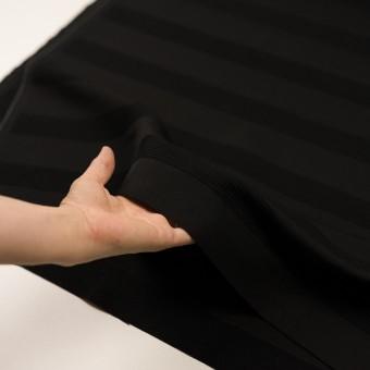 ウール&コットン混×ボーダー(ブラック&チャコールブラック)×ジャガード_全2色 サムネイル5