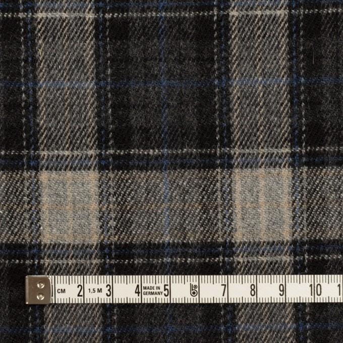 ウール×チェック(グレー&ブルー)×ツイード イメージ4