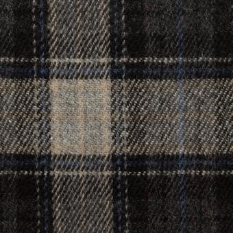 ウール×チェック(グレー&ブルー)×ツイード サムネイル1