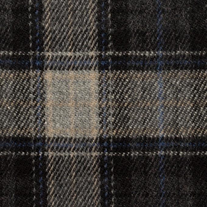 ウール×チェック(グレー&ブルー)×ツイード イメージ1