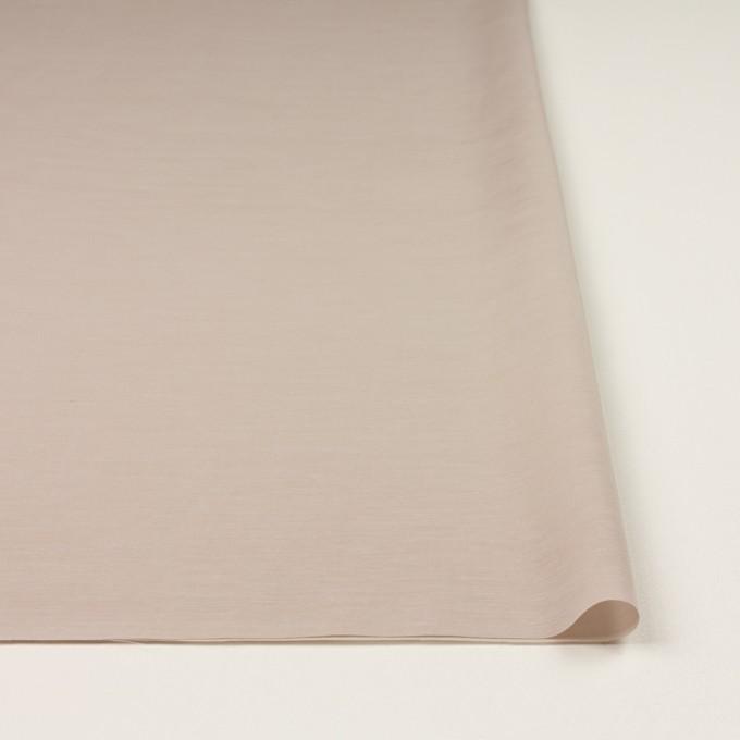 キュプラ&コットン混×無地(スモークベージュ)×スラブローン_全7色 イメージ3