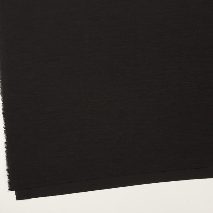 キュプラ&コットン混×無地(ブラック)×スラブローン_全7色 イメージ2