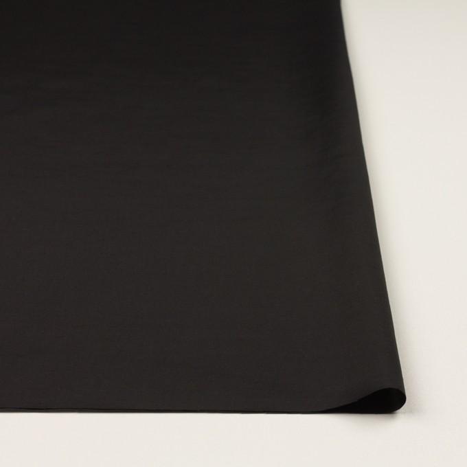 キュプラ&コットン混×無地(ブラック)×スラブローン_全7色 イメージ3