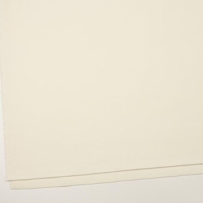 ウール×無地(クリーム)×フラノ(フランネル) イメージ2