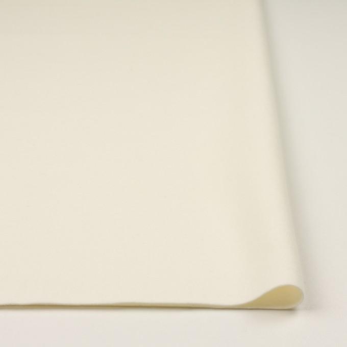 ウール×無地(クリーム)×フラノ(フランネル) イメージ3