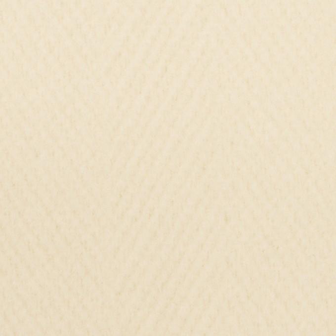 ウール×無地(クリーム)×二重織 イメージ1
