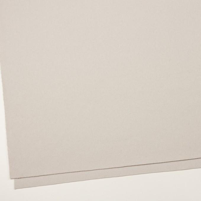 ウール×無地(オイスター)×フラノ(フランネル) イメージ2